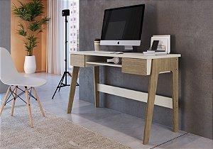 Mesa Escritório Escrivaninha 1240 Carvalho Mel/Off White Primazzia