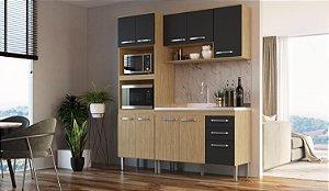 Cozinha Compacta Bélgica 3 peças A3097 Mel/Grafite Casa Mia