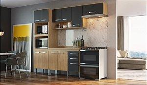 Cozinha Compacta Bélgica 5 peças A3095 Mel/Grafite Casa Mia