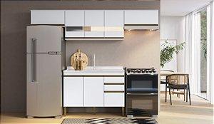 Cozinha Completa Casablanca 4 peças A3498 Branco Acetinado Casa Mia