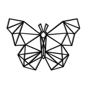 Quadro Decorativo Borboleta Geométrico
