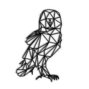 Quadro Coruja Geometrico (Linha Fauna)