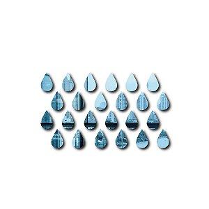 Espelho Gotas da chuva Decorativo