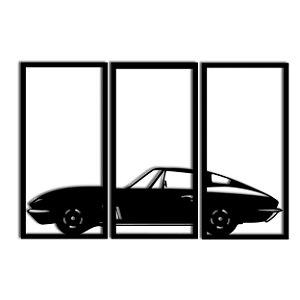 Quadro Corvette Stingray Segmentado (Linha Carros)