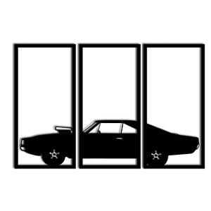 Quadro Dodge Charger Segmentado (Linha Carros)