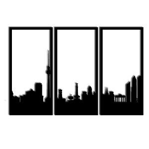 Quadro Decorativo Berlim Segmentado (Linha City)