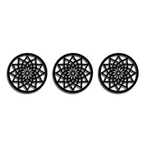 Trio Quadro Mandalas Decorativo 40 cm