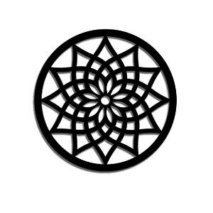 Mandala em Madeira - M