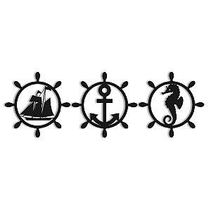 Quadro Decorativo Trio Praia