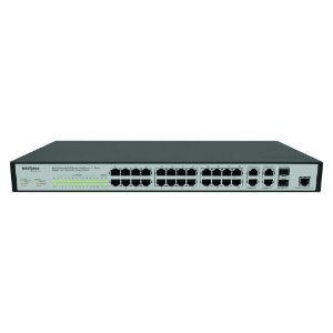 SWITCH 24 PORTAS 10/100 PARA RACK, INTELBRAS  SF2842MR