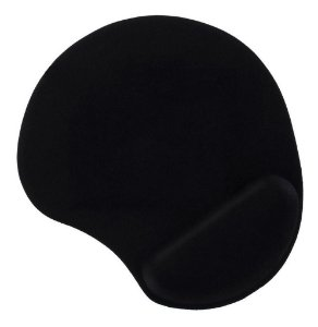MOUSE PAD C/ APOIO PULSO GEL PRETO, MULTILASER AC024