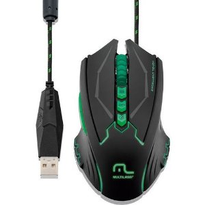 MOUSE OPTICO USB PROFISSIONAL GAMER 8 BOTOES, MULTILASER MO218