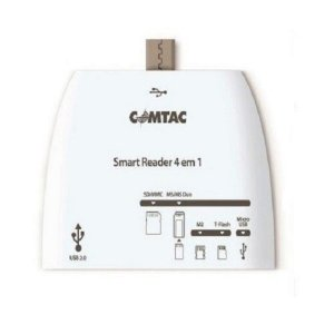 LEITOR DE CARTAO  4 EM 1 SMART OTG, COMTAC 9271
