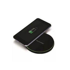 CARREGADOR PORTATIL WIRELESS CONCEPT PRETO 10W, MULTILASER CB130