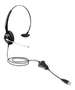 FONE HEADSET MONOAURICULAR INTELBRAS THS 55 USB