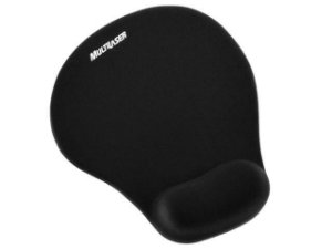 MOUSE PAD C/ APOIO PULSO GEL PRETO NORMAL, MULTILASER AC024