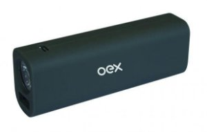 CARREGADOR PORTATIL USB CINZA POWER BANK 3200MAH, OEX PB200