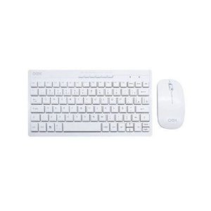 TECLADO + MOUSE WIRELESS 2,4GHZ MULTIMIDIA  WINTER BRANCO, OEX TM403
