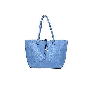 Bolsa Sacola Feminina Shopper Azul Bebê