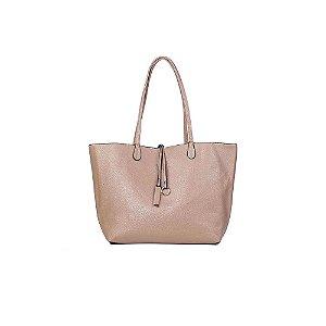 Bolsa Sacola Feminina Shopper Bege