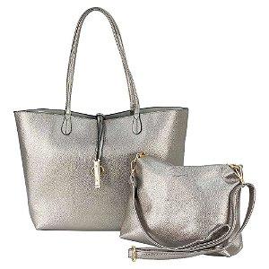 Bolsa Sacola Feminina Shopper Dourada