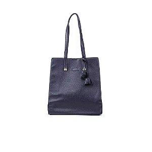 Bolsa de Ombro Feminina Clássica Azul Marinho