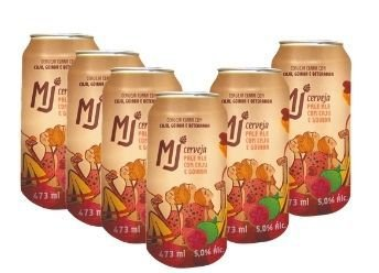 MJ Pale Ale Caju e Goiaba Lata 473 ml - 6 Pack