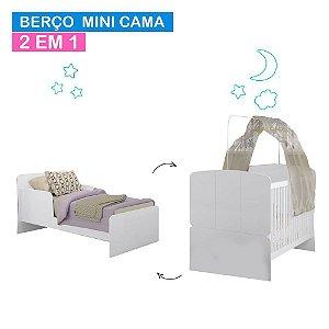 Berço Mini Cama 700 - Branco