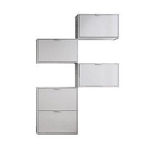 Sapateira Safira 4 Módulos com 5 Portas – Branco
