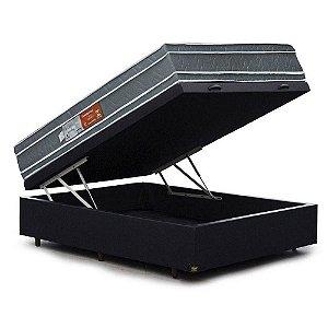 Conjunto Box Baú com Colchão de Casal Ortopédico 138x188x73
