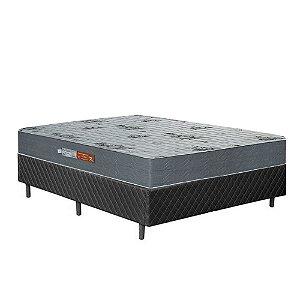 Conjunto Box com Colchão de Casal Ortopédico 138x188x59 - Preto