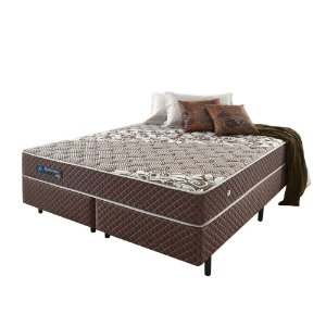 Conjunto Cama Box Queen Size Relax Brown - 158x198x063