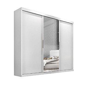 Guarda Roupa Nice 3 portas c/ espelho – Branco
