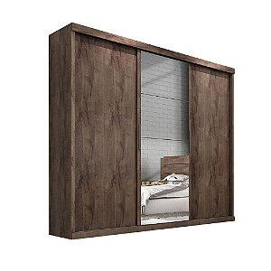 Guarda Roupa Nice 3 portas c/ espelho – Chocolate