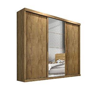 Guarda Roupa Nice 3 portas c/ espelho – Castanho