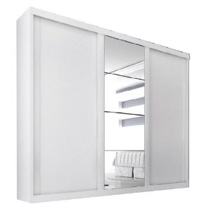 Guarda Roupa Servilha 3 portas c/ espelho – Branco