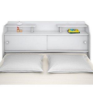 Cabeceira Casal Elisa – Branco/Preto/Branco