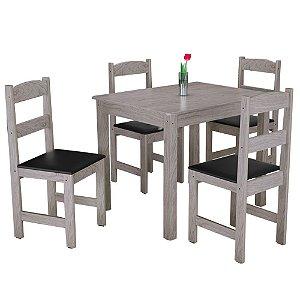 Conjunto de Mesa Com 4 Cadeiras Praiana - Carvalho