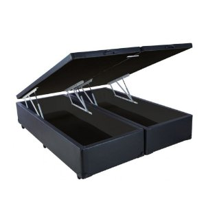 Base Cama Box Baú King 193x203x43 - Preto