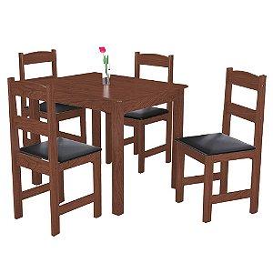 Conjunto de Mesa Com 4 Cadeiras Praiana - Amêndoa
