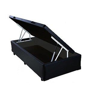 Base Cama Box Baú Solteiro 88x188x43 - Preto