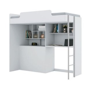 Cama Solteiro Módulo Office Teen New - Branco