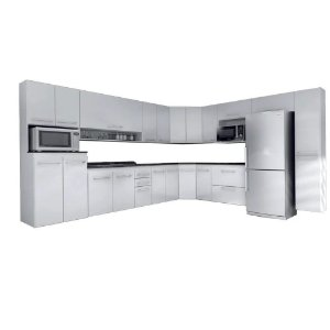 Cozinha Modulado Ônix 15 peças – Branco
