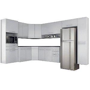 Cozinha Modulado Carbono 09 peças – Branco