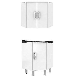 Armário de Cozinha Canto 2 peças - Branca