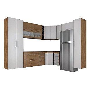 Cozinha Modulado Granada 11 peças – Castanho/Branco