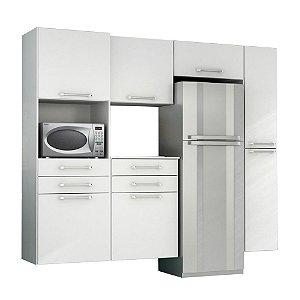 Cozinha Modulado Rebeca Turquesa – Branco
