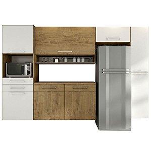Cozinha Modulado Rebeca Jade 5 peças – Castanho/Branco