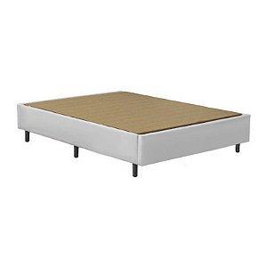 Base Cama Box Casal 138x188x37 - Branco