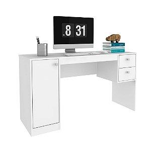 Escrivaninha 1 Porta 2 Gavetas HO-2933 - Branco TX/BrancoTX